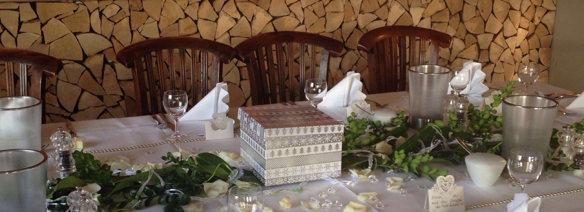 Die Tische sind gedeckt